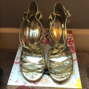 Chinese Laundry Gold Metallic Shoes